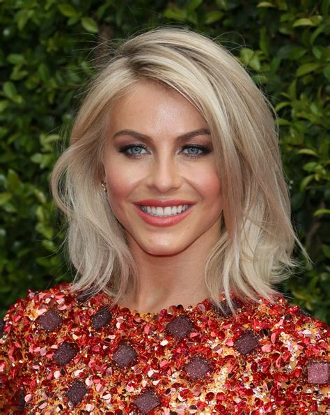 julianne hough blonde bob  lob hairstyle inspiration