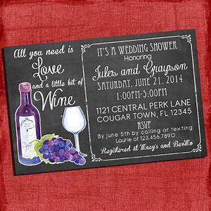 printable wine theme couples coed wedding shower invitation i With coed wedding shower themes