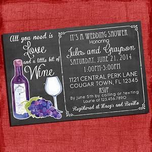 printable wine theme couples coed wedding shower invitation i With coed wedding shower ideas