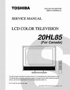 Toshiba 50hp66 Service Manual Free Download  Schematics