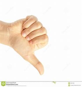 Hand Thumb Down Stock Photo - Image: 35637680