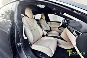 Midnight Silver Metallic Model S 2.0 - Custom Ferrari Creme Interior – T Sportline - Tesla Model ...
