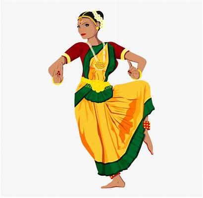 Dance Clipart Indian Classical Transparent Dancer Clipartkey