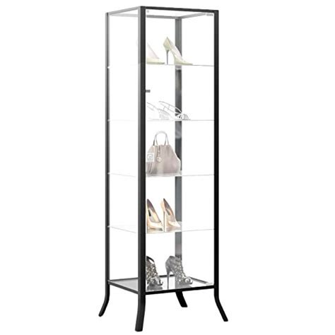 curio cabinet display with glass door and lock for