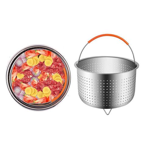 steamer basket steam stainless steel cooker pressure pot instant rice multi scald function anti fruit rack trivet accessories cleaning qt