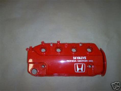fsft db powdercoated red valve cover   honda acuranet