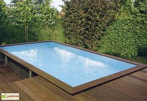 piscine bois hors sol rectangulaire quartoo pls With piscine hors sol bois rectangulaire 3m