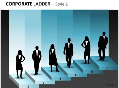 corporate ladder diagram  business powerpoint  pictures   template