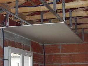 Pose De Faux Plafond : faire un plafond en ba13 maison travaux ~ Premium-room.com Idées de Décoration