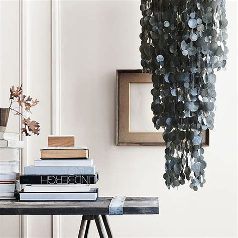 gray capiz shell pendant lights and chandeliers from west