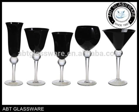 Abt Custom Handmade Blown All Black Glassware Sets/wine