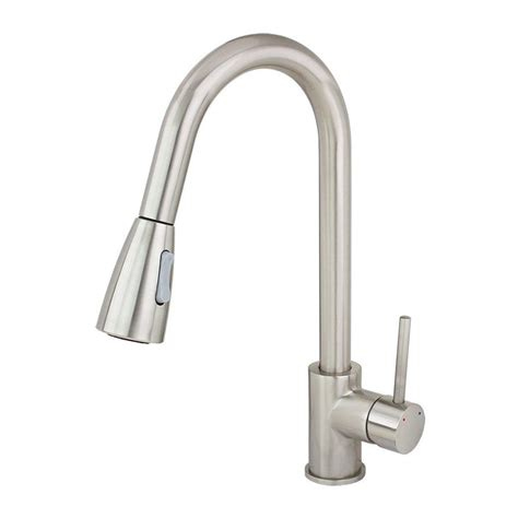 pull kitchen faucet brushed nickel shop kokols usa brushed nickel 1 handle deck mount pull