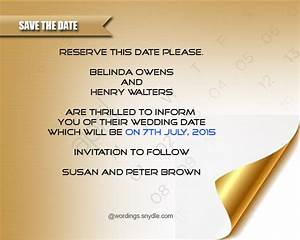 Save The Date Wording Samples - Wordings and Messages