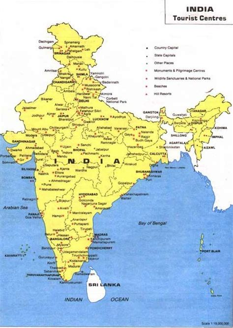 India Tourist Map  India Travel  Pinterest  Tourist Map