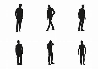 Silhouette Human Vector Silhouettes Vectors Male Svg