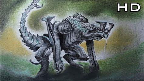 increible dibujo de otachi kaiju categoria  pacific rim