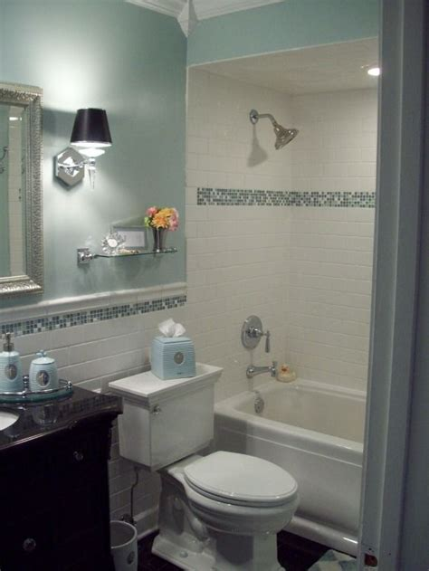 White Bathroom With Color Accents by My Bathroom Sparkles Spa Blue Bathroom Makeover