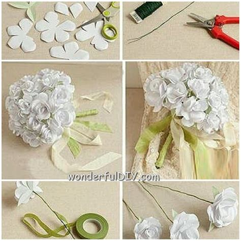 wonderful diy flower bouquet  wedding