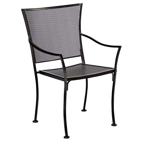 pictured is the amelie bistro stackable arm chair from