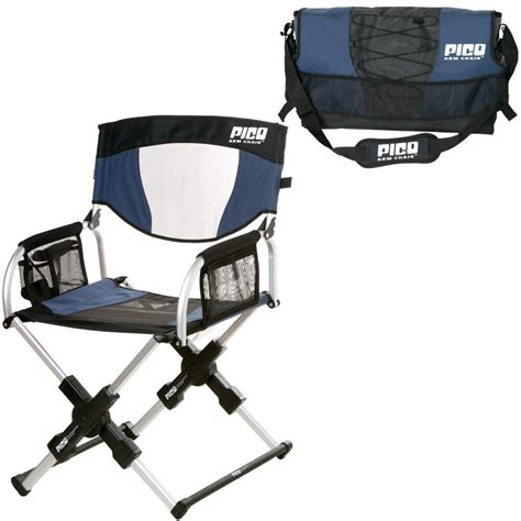 gci outdoor pico arm chair navy gci outdoor sport pico folding arm chair navy blue compact