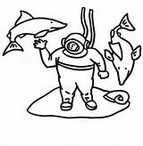 Coloring Shark Diver Sharks Printactivities Around Appear Printables Printed Navigation Only Print Swimming sketch template