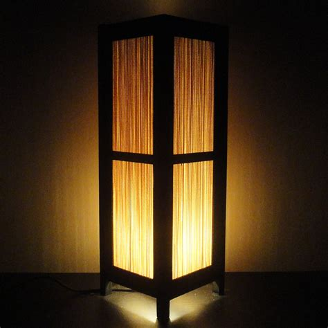 Floor Lamps With Paper Shades by 15 Tall Asian Oriental Japanese Bamboo Zen Art Bedside