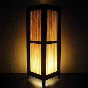153939 tall asian oriental japanese bamboo zen art bedside With bamboo paper floor lamp