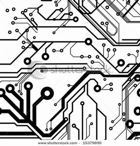 close up of circuits on a circuit board vector clip art With circuit design free