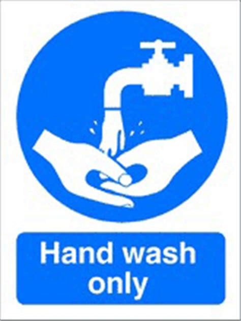 hand wash  health  safety sign scs
