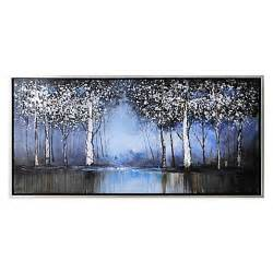 cobalt tree painted canvas wall bed bath beyond