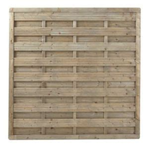 panneau brise vue bois panneau bois droit blooma onora 180 x h 180 cm castorama