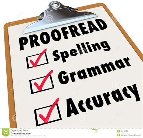 Proofread Clipboard Checklist Spelling Grammar Accuracy Stock Illustration  Illustration Of
