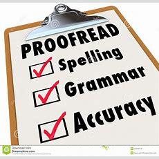 Proofread Clipboard Checklist Spelling Grammar Accuracy Stock Illustration  Illustration Of