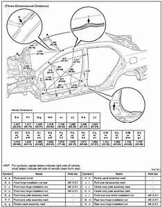 Toyota Corolla Body Repair Manual  Body Dimension Drawings