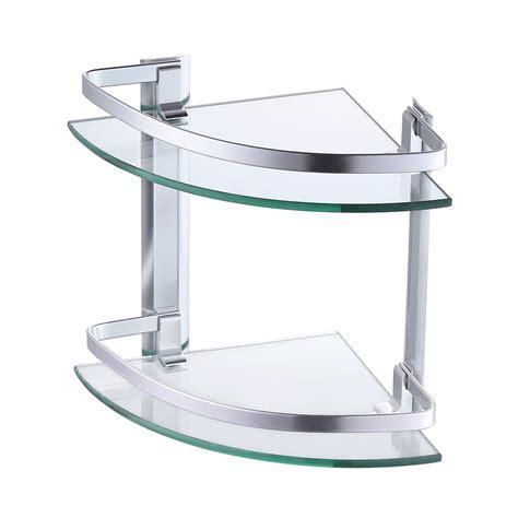 KES Glass Corner Shelf, Bathroom Shelf 2 Tier with