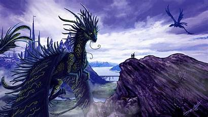 Dragon Wallpapers Lightning Purple Phone