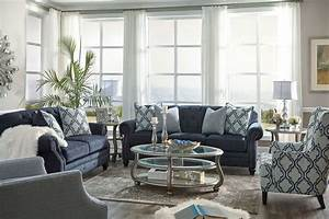 Lavernia navy living room set from ashley coleman furniture for Living room furniture sets australia