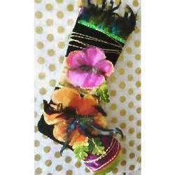Peacock Feathered Caribbean Christmas Stocking FindGift