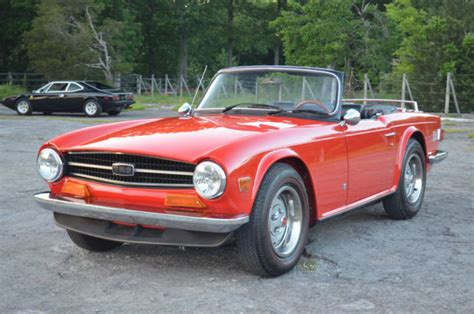 stunning pebble quality restoration on an early tr6