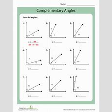 Complementary Angles  Worksheet Educationcom