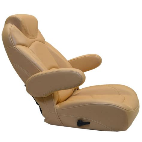 Captain Chairs For Pontoon Boats by Deluxe Butterscotch Vinyl Reclining Marine Pontoon Boat