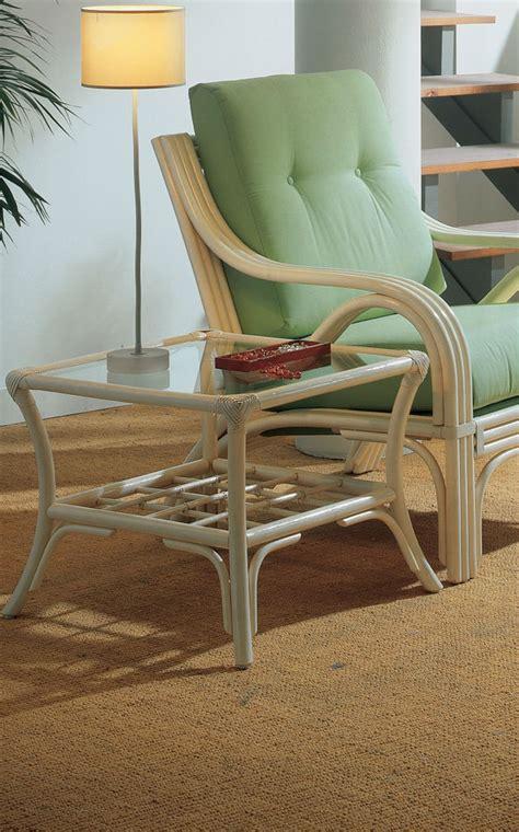 Table basse carrée en rotin avec plateau en verre Brin d