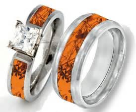 camouflage wedding rings camo pink orange southern designs - Orange Camo Wedding Rings