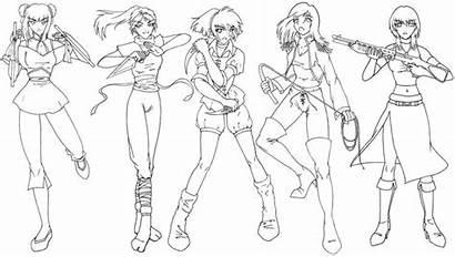 Drawing Female Manga Anime Warrior Reference Warriors