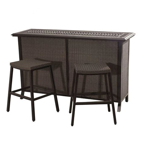 sunjoy tulsa 3 piece patio serving bar set 110214002 the