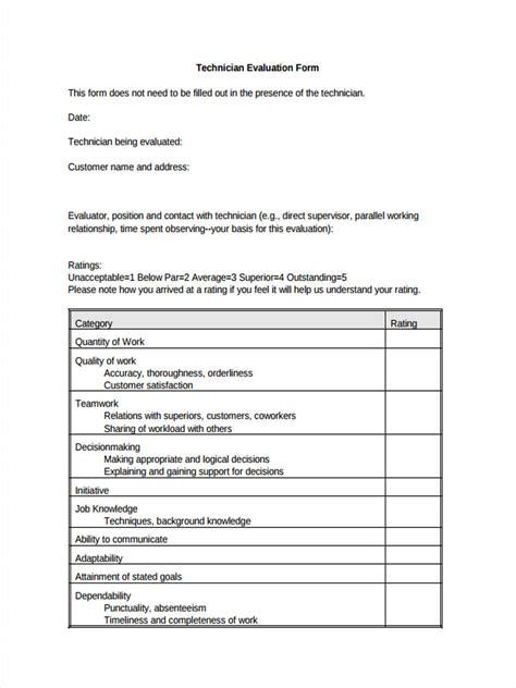 sample service evaluation form   documents
