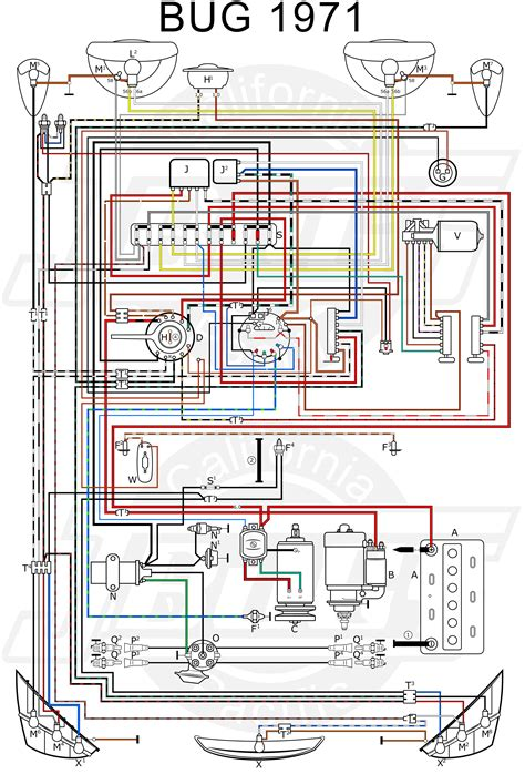 vw beetle wiring diagram 1971 29 wiring diagram images