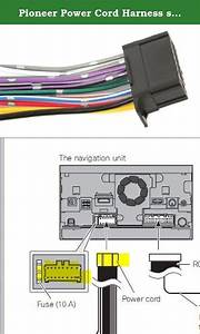 Pioneer Power Cord Harness Speaker Plug For Navigation Dvd