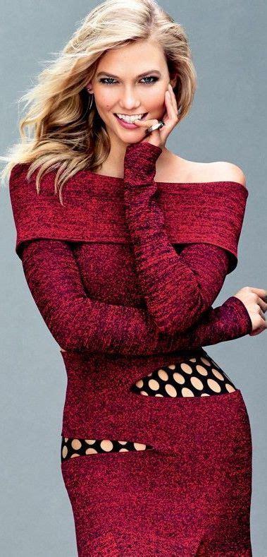 Karlie Kloss Glamour September Red Orange
