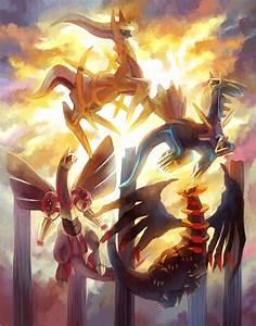 Arceus, Dialga, Palkia and Giratina | Pokemon, Pokemon art ...